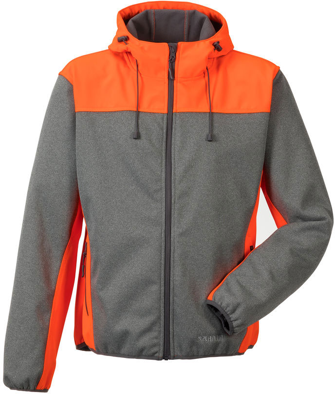 PLANAM Softshell-Jacke KONTRAST grau/orange